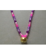 PASSION FLOWER ~ HORSE RHYTHM BEADS ~ Pinks, Purples ~ Size 54 Inches - $17.00