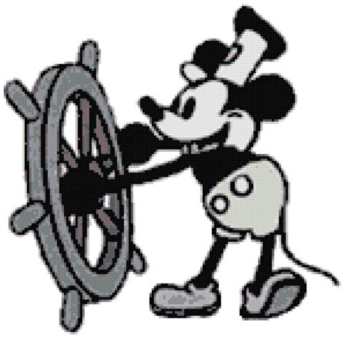 Disney Mickey Mouse Steamboat Willy Counted Cross Stitch Pattern