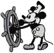 Disney Mickey Mouse Steamboat Willy Counted Cross Stitch Pattern - $19.53