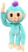 Plush Baby Monkey 10 in w/ Sound Bendable Arms & Legs Teal - $14.35