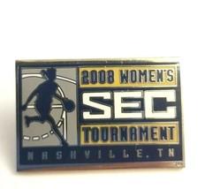 2008 SEC Women's Basketball Tournament Nashville TN Silver Tone Enamel L... - $15.60