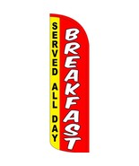 Breakfast Served All Day Stay-Open Swooper Flag Only: Fast 2 Day Shipping! - $28.00
