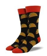 "Socksmith Men's Socks Novelty Crew Cut Socks ""Tacos"" / Choose Your Color!! - $12.39"