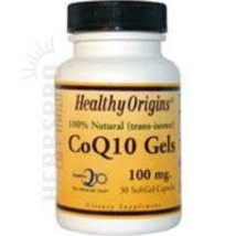 Coq10, 100MG, 30 Softgels by Healthy Origins - $5.98