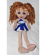 Build a Bear Friends 2B Made Doll Cheerleader Outfit Brown Hair Eyes - $12.84