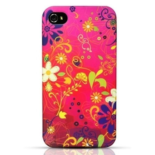 New!! Odoyo Fiesta Case Cover Shell for Apple iPhone 4 & 4S - Raspberry