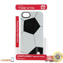 Trexta 100% Leather Soccer/ Football Snap-on Case, iPhone 5 5s, VIVA LA FIFA ! - $19.99