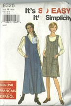 Simplicity Sewing Pattern 8326 Misses Womens Jumper Size 8 10 12 14 16 1... - $9.98