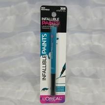 Loreal Paris Infallible Paints Liquid Eyeliner 306 Intrepid Teal Intense Color - $6.23