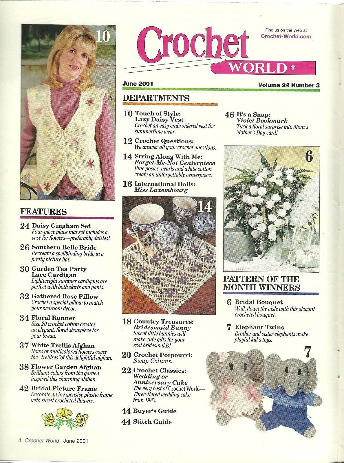 Crochet World Magazine June 2001 Volume 23 No. 3
