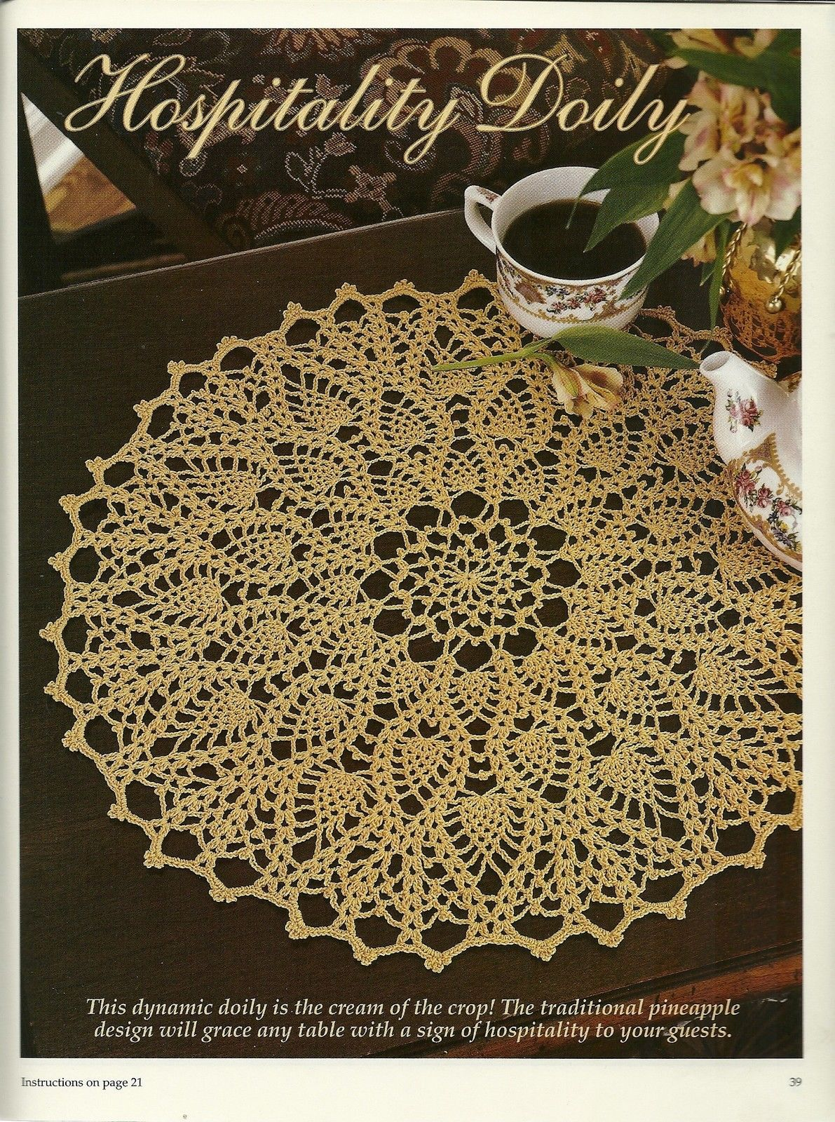 Crochet With Heart Leisure Arts Magazine June 2001 Volume 6 No. 2