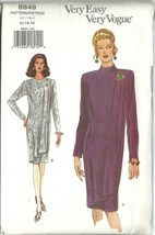 Vogue Sewing Pattern 8849 Misses Womens Dress S... - $14.98