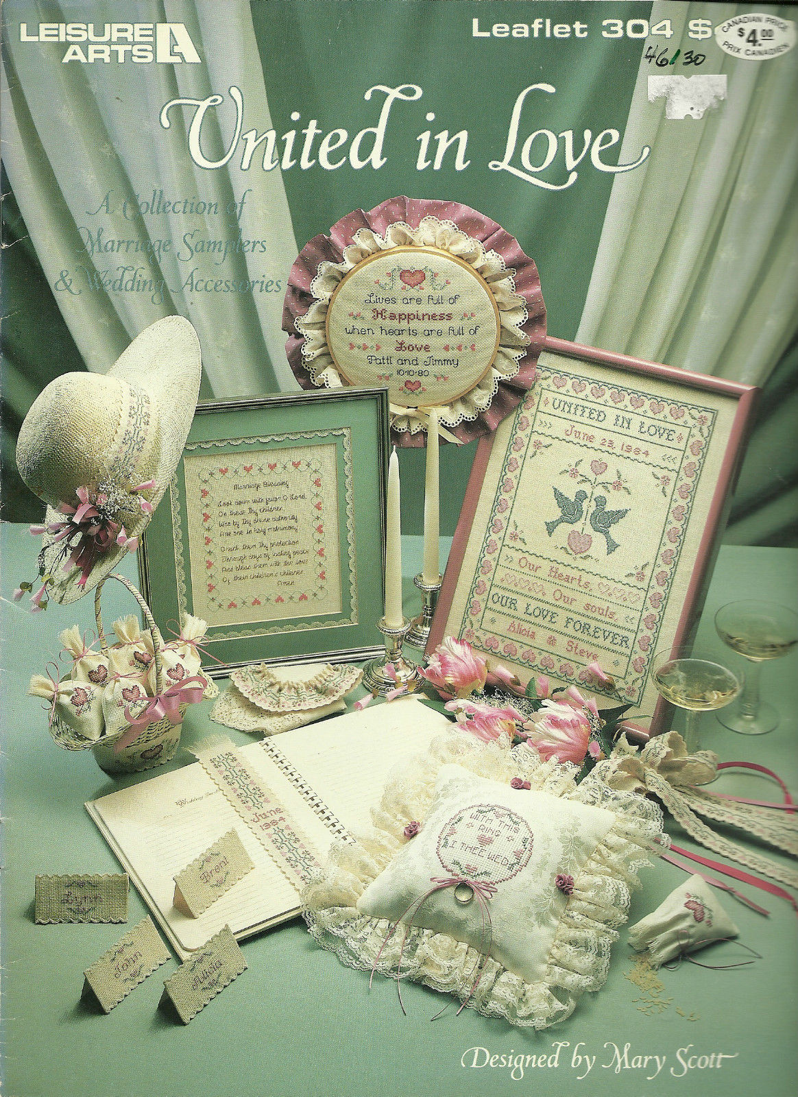 United In Love Leisure Arts Cross Stitch Pattern Leaflet No. 304