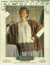 Bernat Heathers Textures Knitting Pattern Book No. 1272 - $9.98