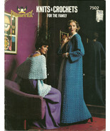 Phentex Knits and Crochets For the Family Pattern Leaflet No. 7502 - $9.98