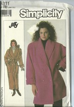 Simplicity Sewing Pattern 8311 Misses Womens Coat Size SM M L XL New Uncut - $9.99