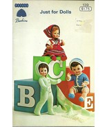 Just For Dolls Pattern Book No. 139 Patons Beehive Barbie Ken Clothing - $9.98