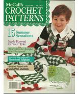 McCall's Crochet Patterns Magazine August 1992 Volume 6 No. 4 - $9.98