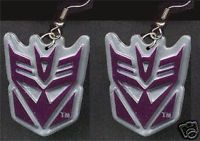 Big Funky MEGATRON EARRINGS Transformers Punk Costume Comics Character Jewelry