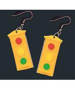 Funky TRAFFIC STOP LIGHT SIGNAL EARRINGS Police Jewelry - $8.99