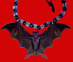 Huge BAT NECKLACE Dracula Vampire Gothic Amulet Jewelry - $6.99