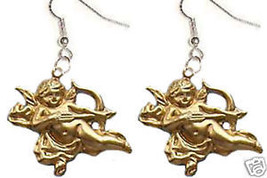 Funky ANGEL CUPID CHERUB FLYING BOW ARROW EARRINGS~Valentine Gift Charms... - $8.99
