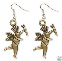 Funky CUPID CHERUB ANGEL w~ARROW EARRINGS Charm Jewelry - $6.99