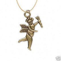 Funky CUPID CHERUB ANGEL w~ARROW NECKLACE Love Charm Jewelry Valentines ... - $6.97
