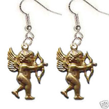 Funky CUPID CHERUB BOW ARROW EARRINGS Valentine Jewelry - $8.99