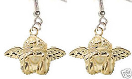 Funky CUPID CHERUB WINGED ANGEL EARRINGS Love Charm Valentine's Day Gift... - $6.99