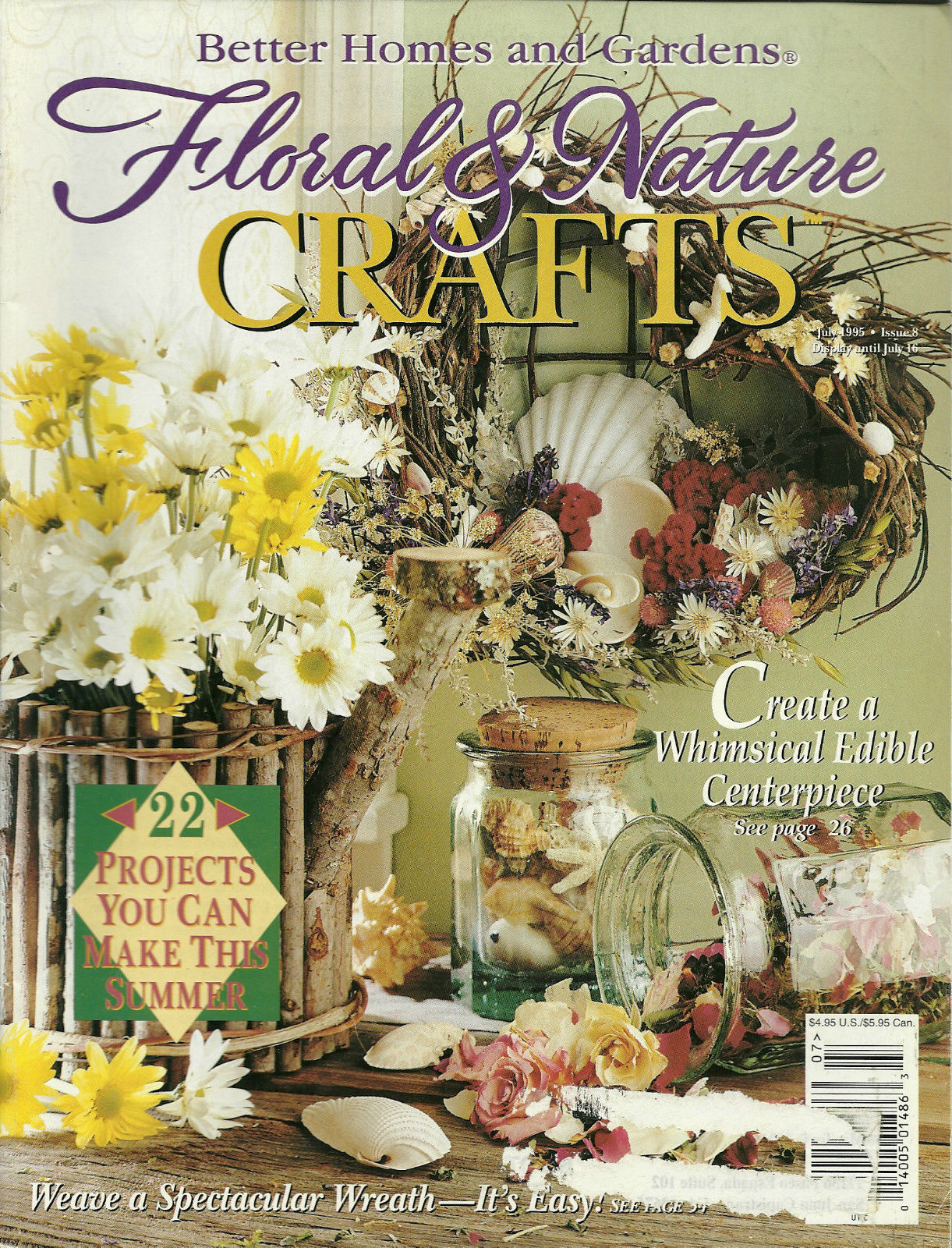 Floral Nature Crafts Magazine Better Homes And Gardens