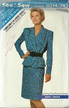 See And Sew Sewing Pattern 6514 742 Misses Womens Top Skirt Suit Size 6 - 14 New - $12.98