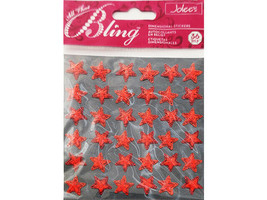 Jolee's Bling Dimensional Red Star Stickers #50-20475