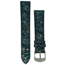Michele 16mm Blue Floral Genuine Suede Strap MS16AA090452 Deco 16 Lilou - $45.89