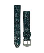 Michele 16mm Blue Floral Genuine Suede Strap MS16AA090452 Deco 16 Lilou - $45.89