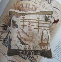June Hen Calendar Of Animals cross stitch chart Niky's Creations - $12.60
