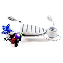Saul Montesinos Day of the Dead Kitty Cat w Starfish Clay Folk Art Figurine image 7