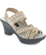 Steve Madden Torrist Woven Wedge Sandal, Tan/Multi, Size US 9.5 - $29.69