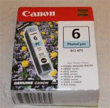 Brand NEW Genuine Canon BCI6PC BCI-6 Ink Tank 370 Page-Yield Photo Cyan 75084572 - $6.95