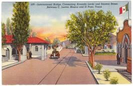 Vintage linen postcard international bridge el paso tx thumb200