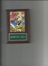 Browning Nagle Plaque New York Jets Ny Football Nfl - $0.01