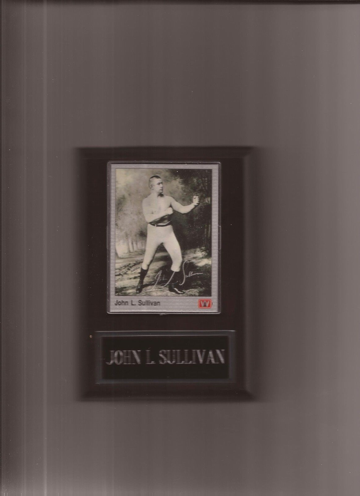 JOHN L. SULLIVAN  BOXING PLAQUE - $1.97