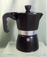 PRE-OWNED LA CAFETIERE BLACK STOVETOP ESPRESSO MAKER - SINGLE SERVING SIZE - $17.99