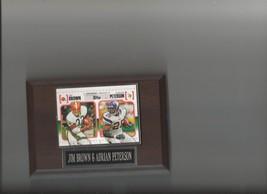 Adrian Peterson & Jim Brown Plaque Minnesota Vikings Browns Football Nfl - $0.01