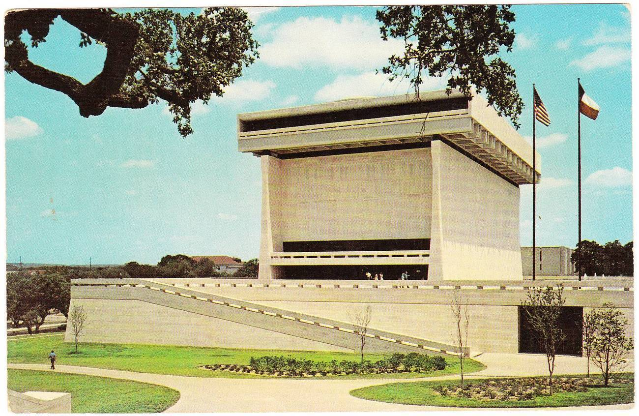 Vintage postcard lbj library university of texas austin tx