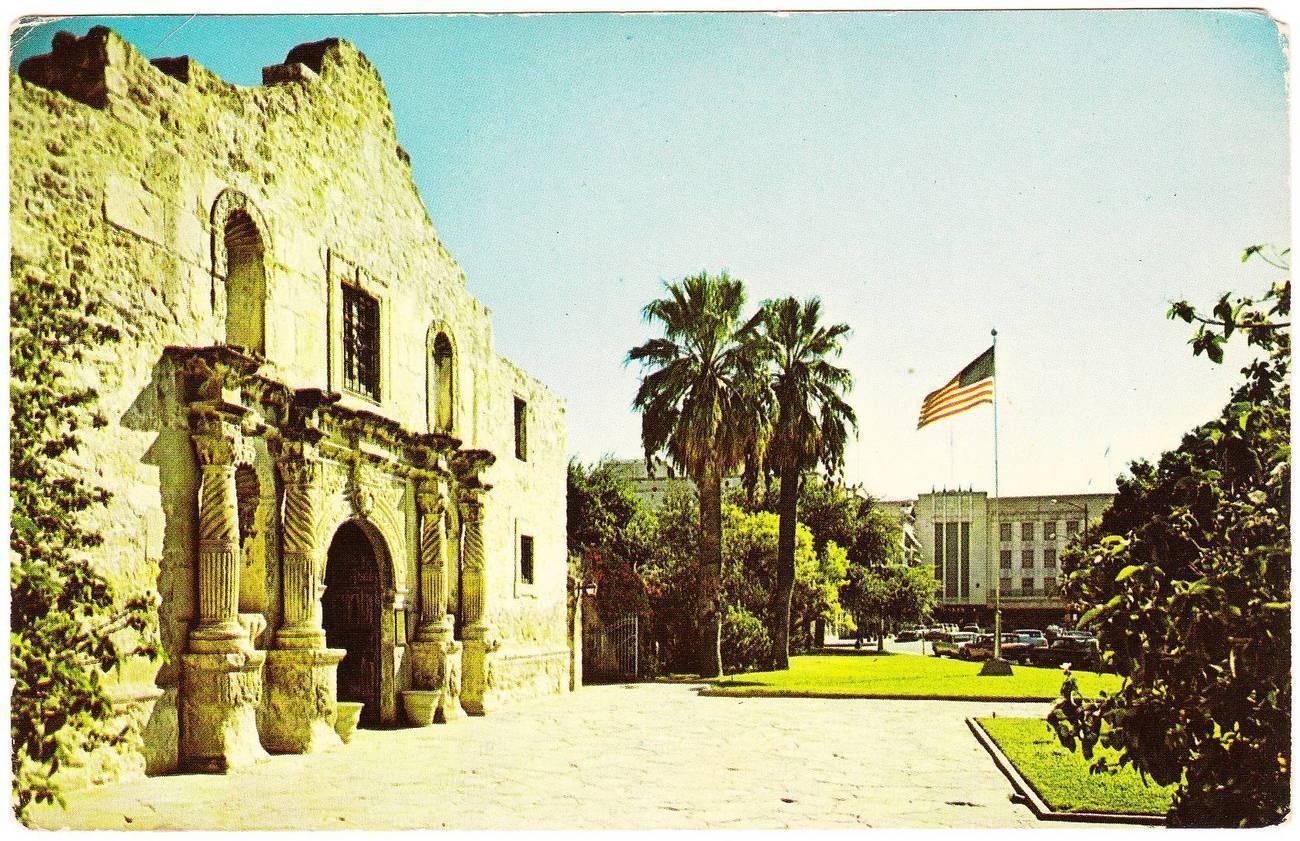 Vintage postcard the alamo san antonio texas tx