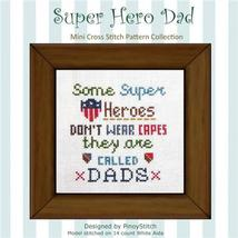 Super Hero Dad cross stitch chart Pinoy Stitch - $6.30