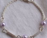 Purple rounds silver bracelet 2 thumb155 crop
