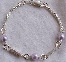 Purple silver bracelet C - $23.00