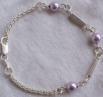 Purple silver bracelet C